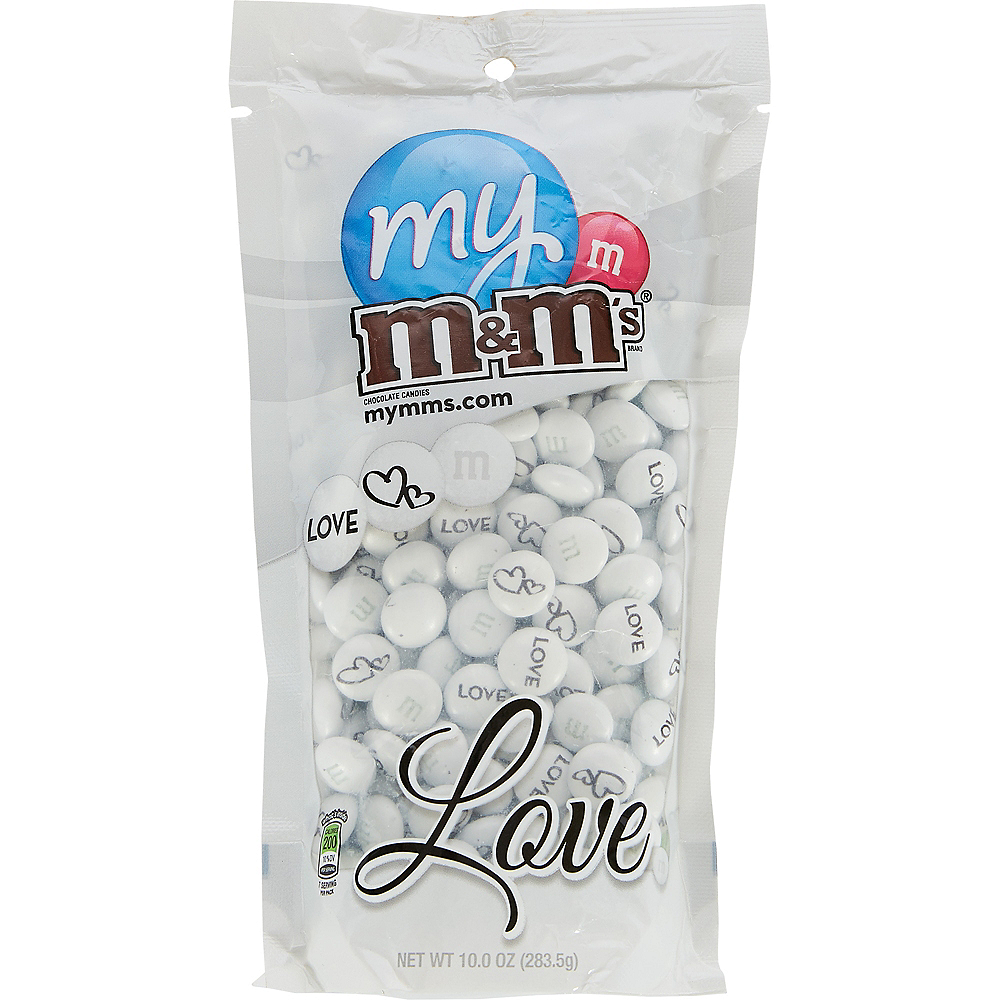 White Wedding Milk Chocolate M&M's Image #1