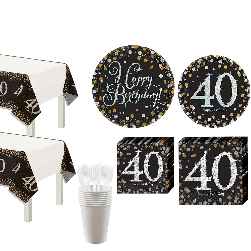 Sparkling Celebration 40th Birthday Party Kit for 16 Guests Image #1