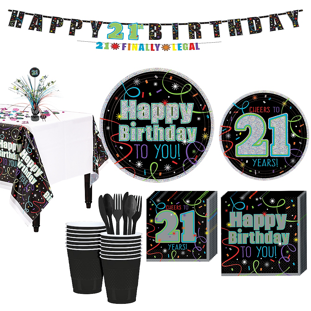 Brilliant 21st Birthday Party Kit For 16 Guests Party City