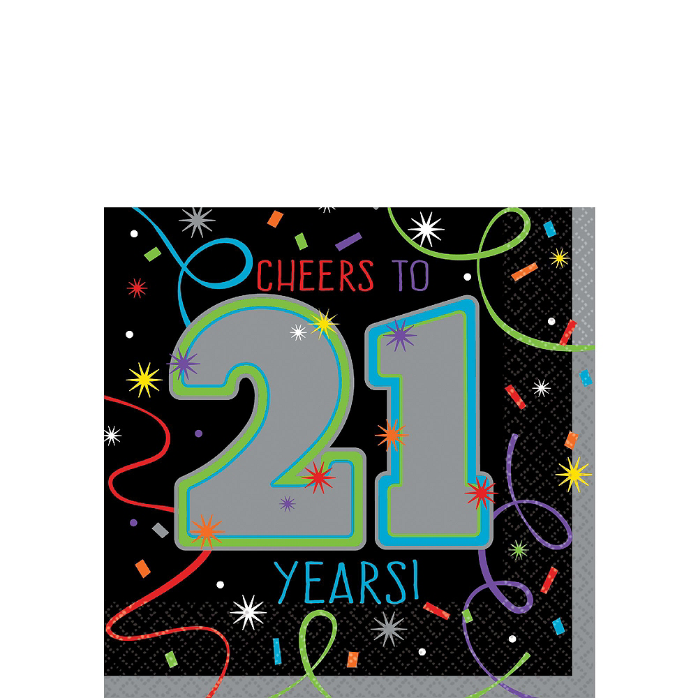 Brilliant 21st Birthday Party Kit for 16 Guests Image #6