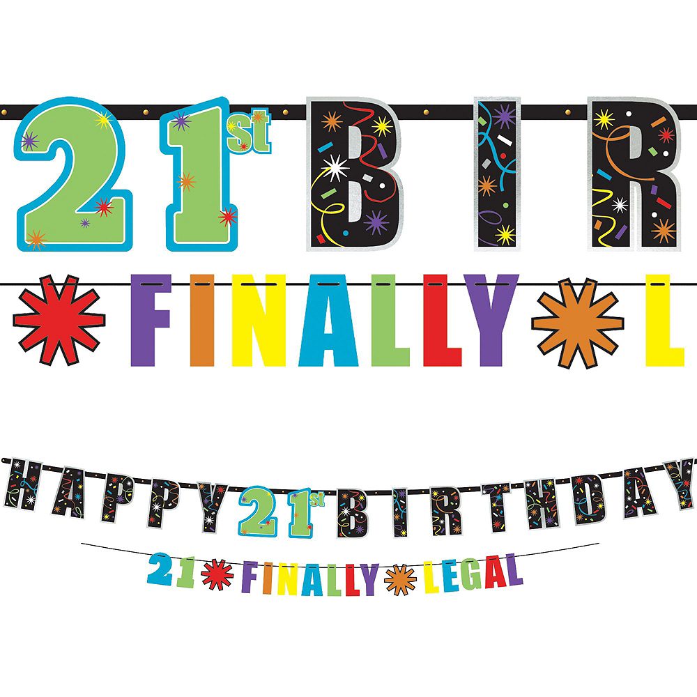 Brilliant 21st Birthday Party Kit for 16 Guests Image #10