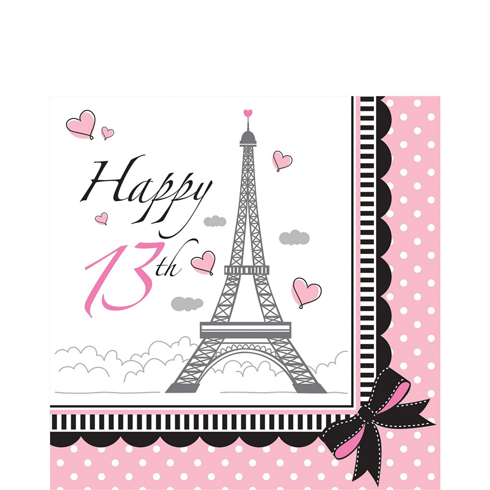 Pink Paris 13th Birthday Party Kit for 16 Guests Image #5