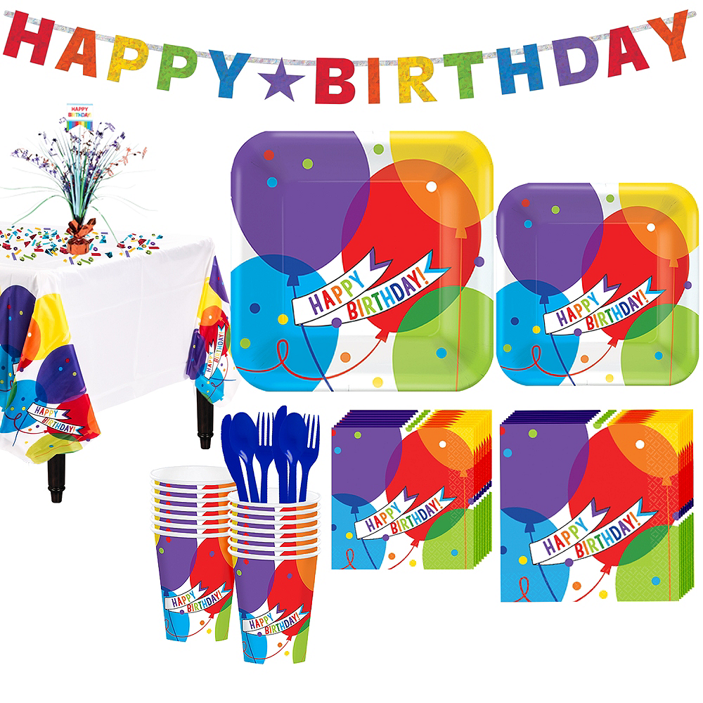 Balloon Bash Birthday Party Kit For 18 Guests Image 1