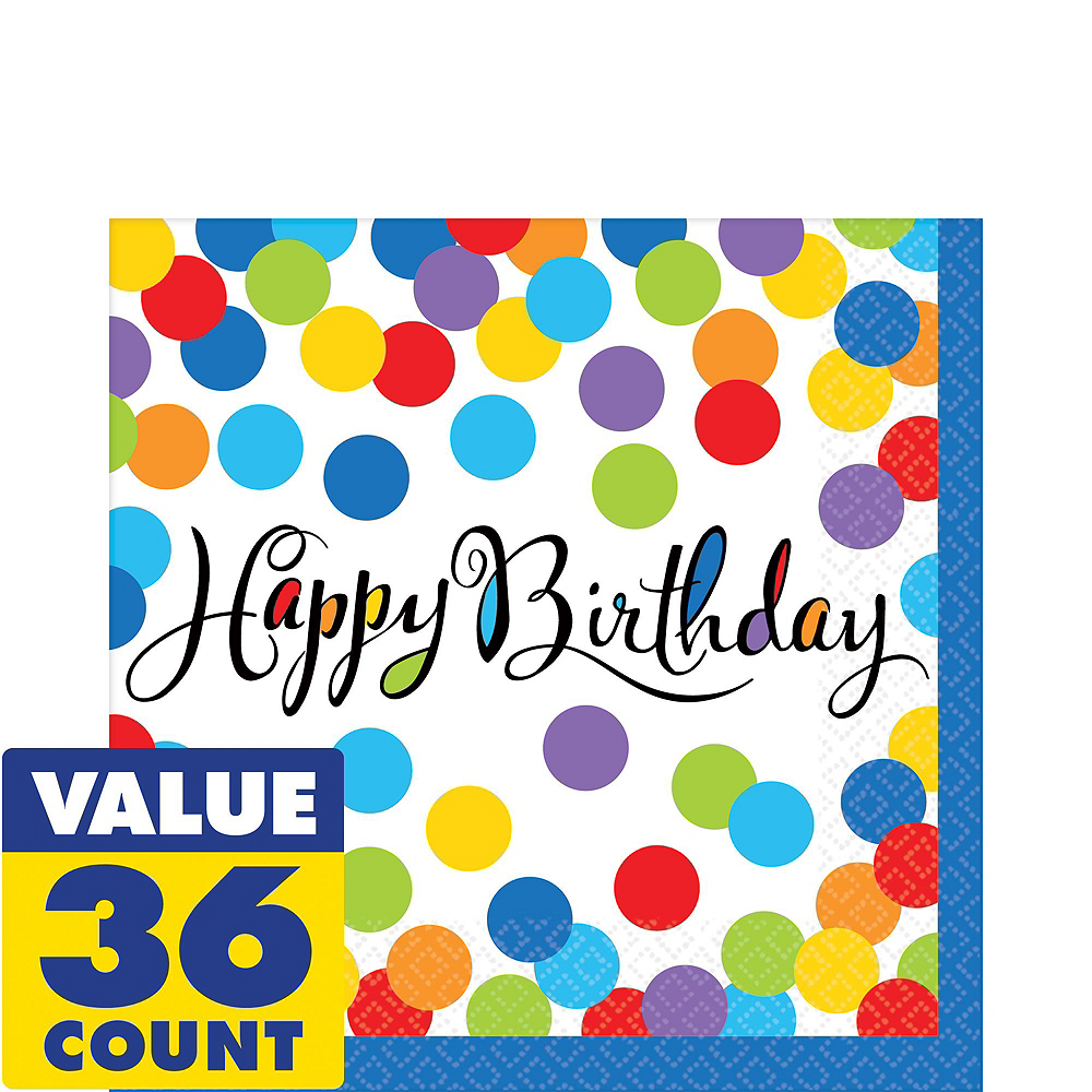 Bright Dot Birthday Party Kit for 18 Guests Image #2