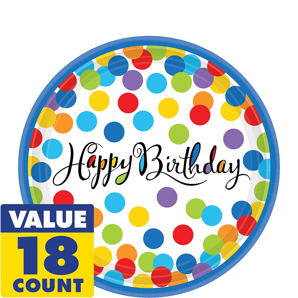 Bright Dot Birthday Party Kit for 18 Guests Image #5