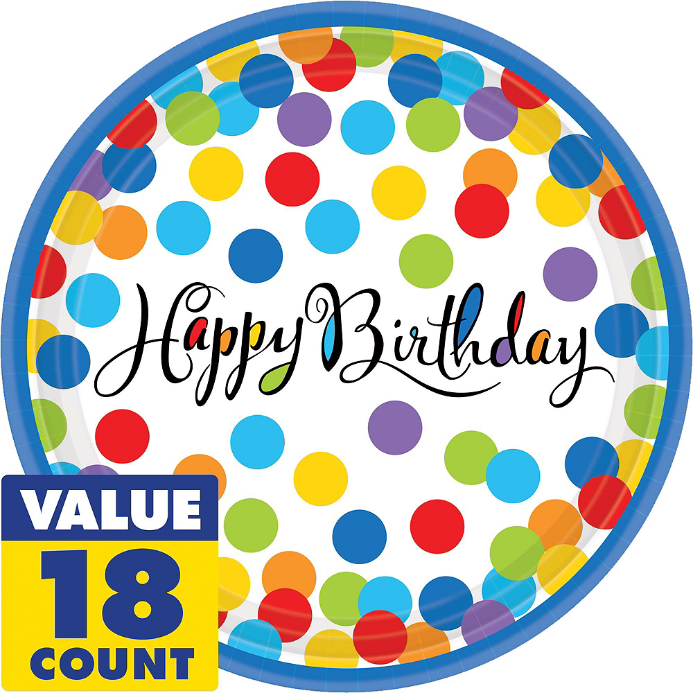 Bright Dot Birthday Party Kit for 18 Guests Image #6