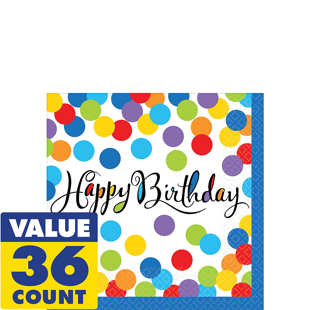 Bright Dot Birthday Party Kit for 18 Guests Image #7