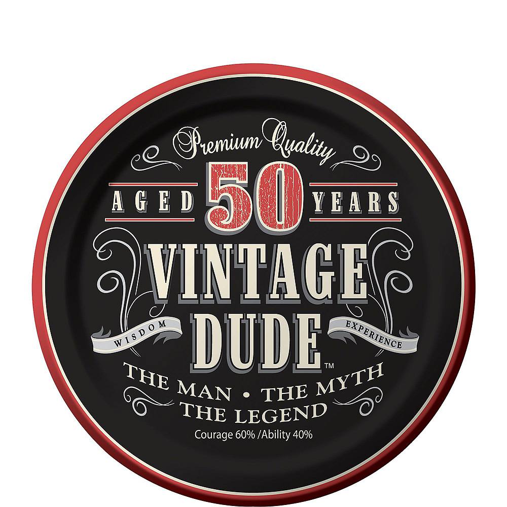 Vintage Dude 50th Birthday Party Kit for 16 Guests Image #2