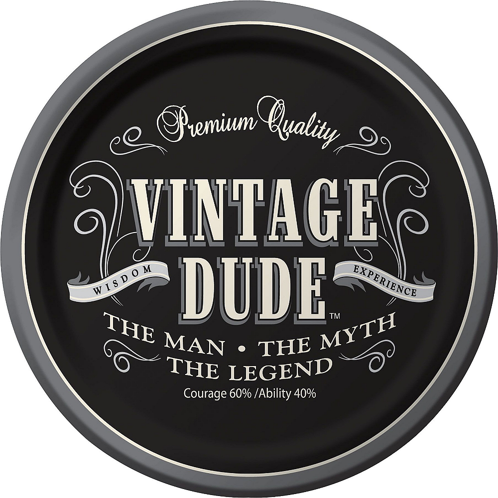 Vintage Dude 60th Birthday Party Kit for 16 Guests Image #3
