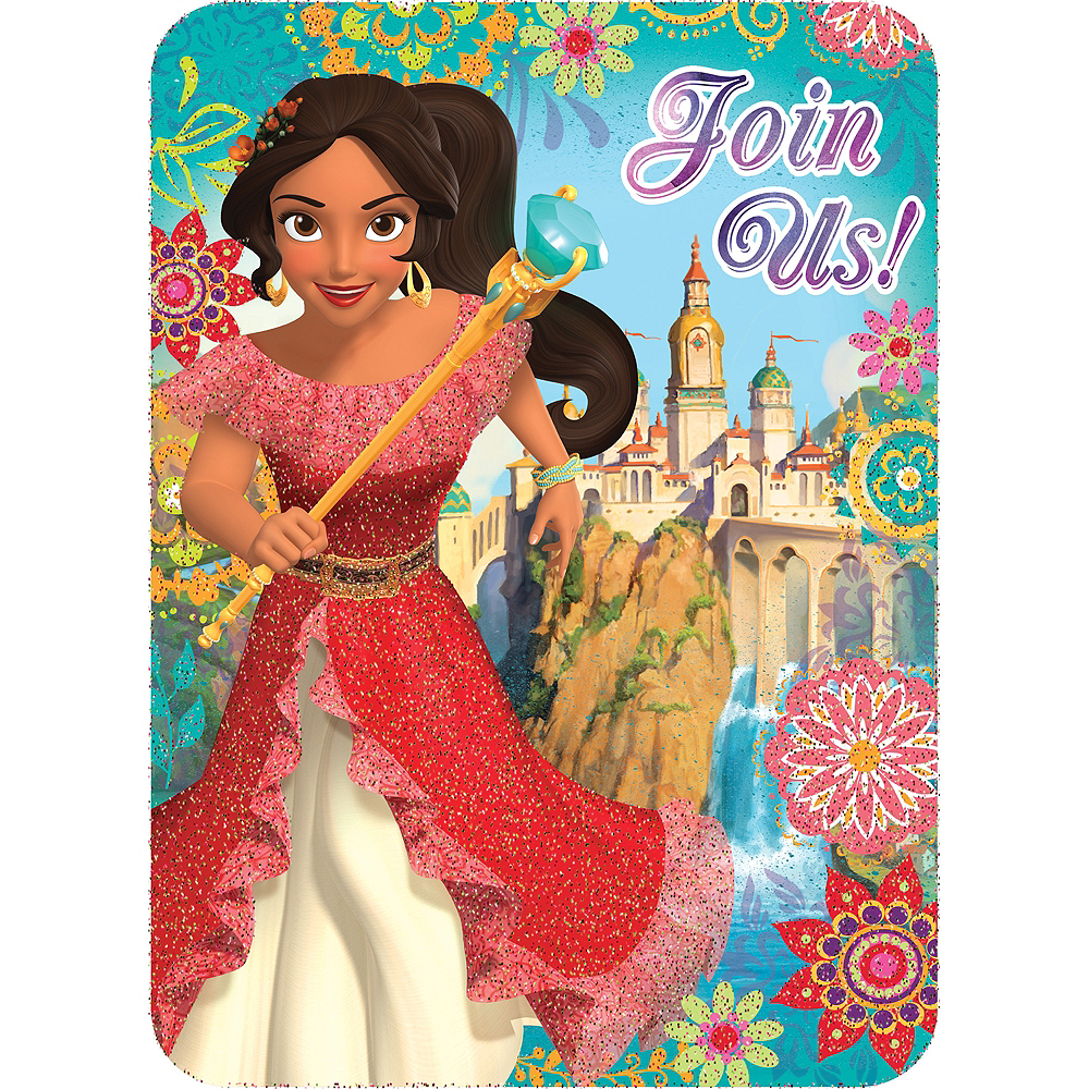 Nav Item for Premium Glitter Elena Of Avalor Invitations 8ct Image #1