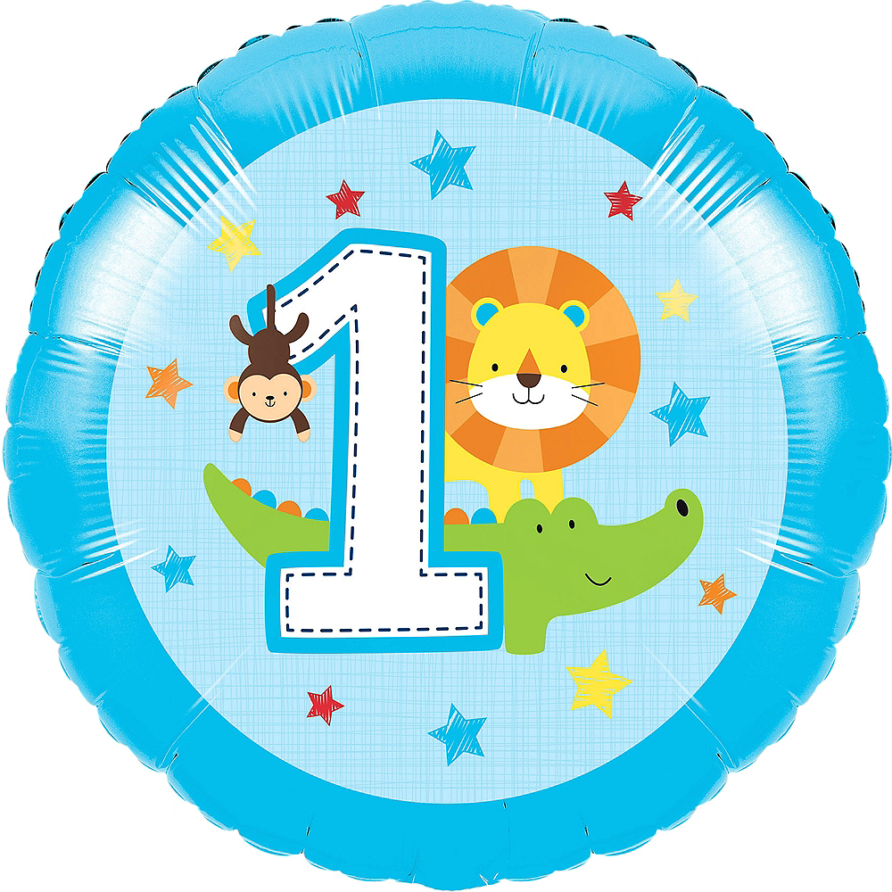 Blue One is Fun 1st Birthday Balloon Image #1