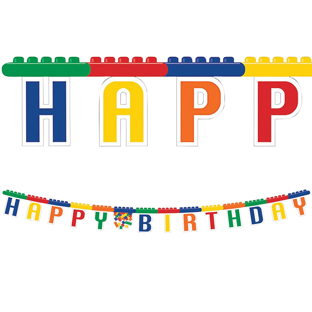 Building Blocks Birthday Banner Image #1