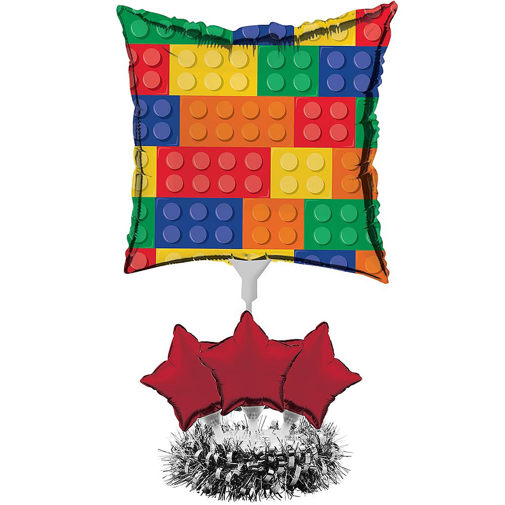 Building Blocks Balloon Centerpiece Kit Image #1