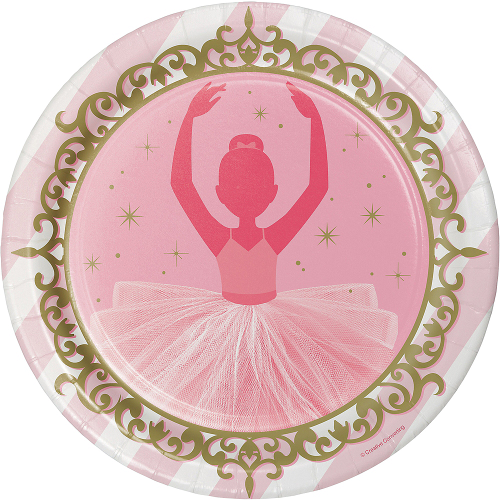Ballerina Lunch Plates 8ct Image #1