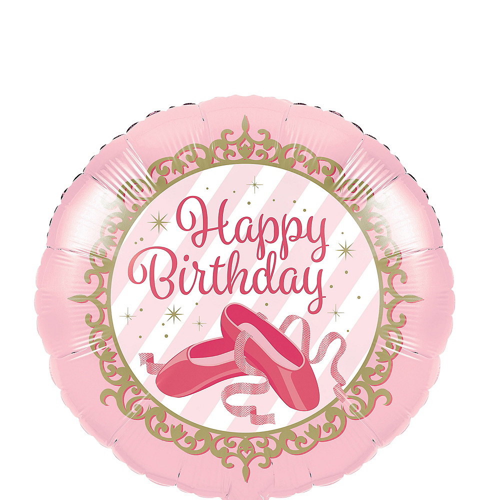 Ballerina Birthday Balloon Image #1