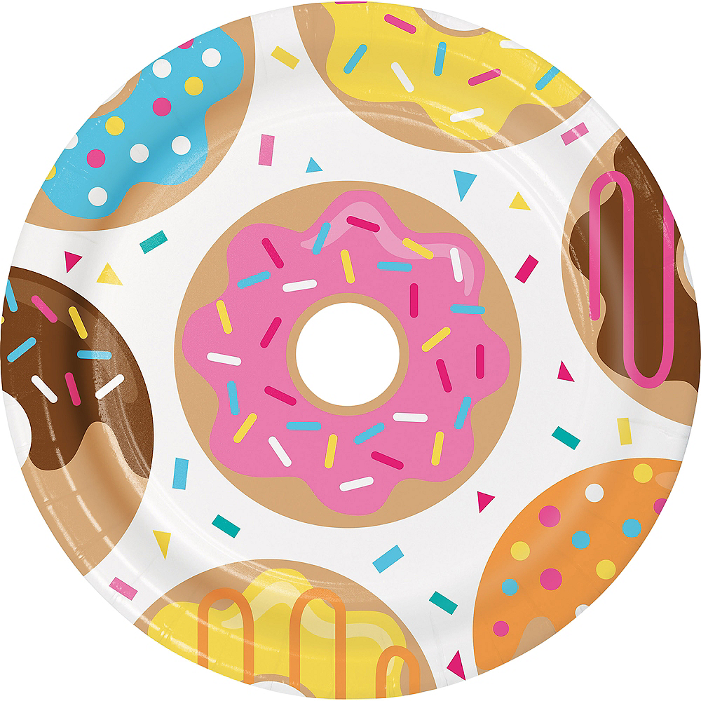 Donut Lunch Plates 8ct Image #1
