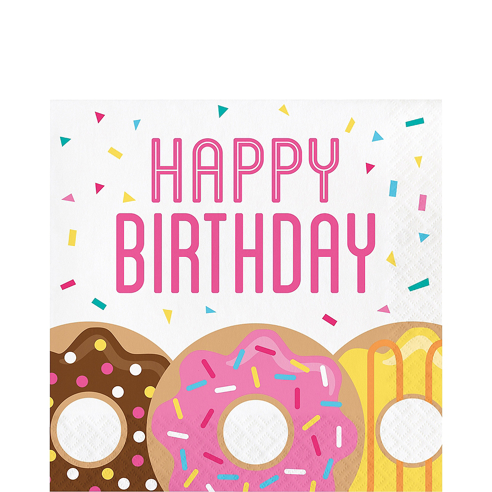 Donut Birthday Lunch Napkins 16ct Image #1