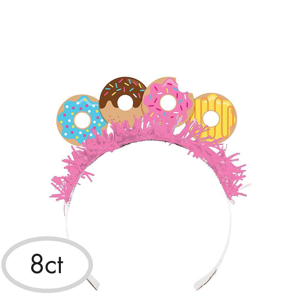 Donut Tiara Headbands 8ct Image #1