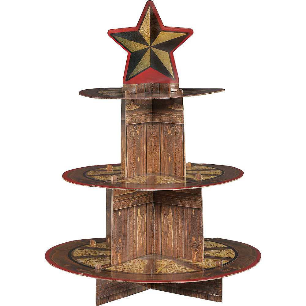 Yeehaw Western Cupcake Stand Image #1