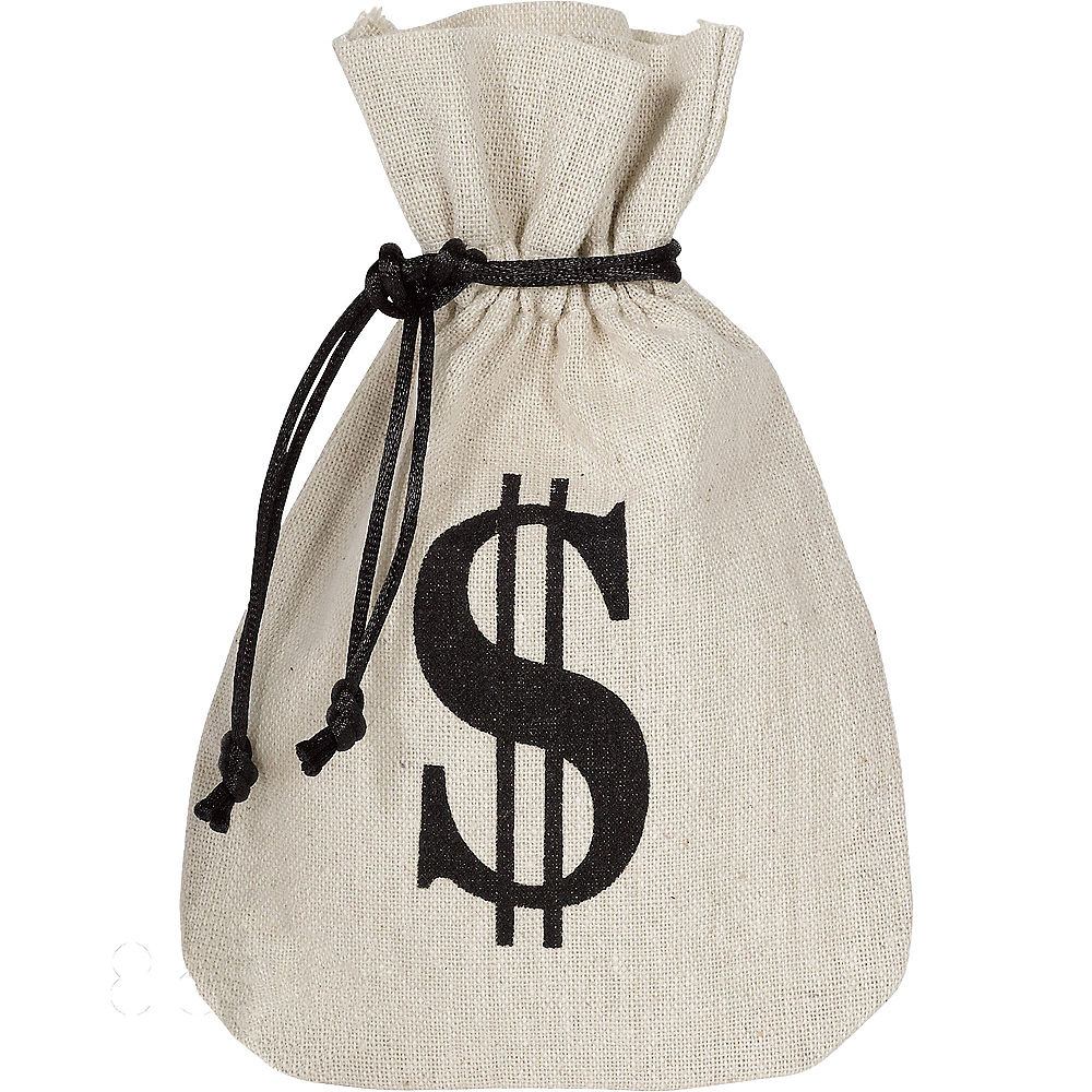 Burlap Money Bags Favor 8ct Image 1