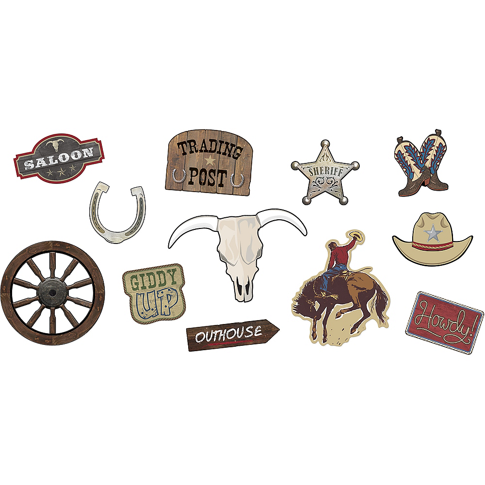 Nav Item for Yeehaw Western Cutouts 12ct Image #1