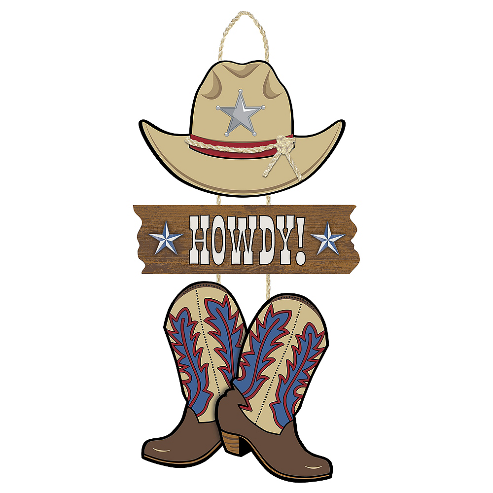 Willhowdy Home: Yeehaw Western Howdy Stacked Sign 9 1/2in X 21 1/2in
