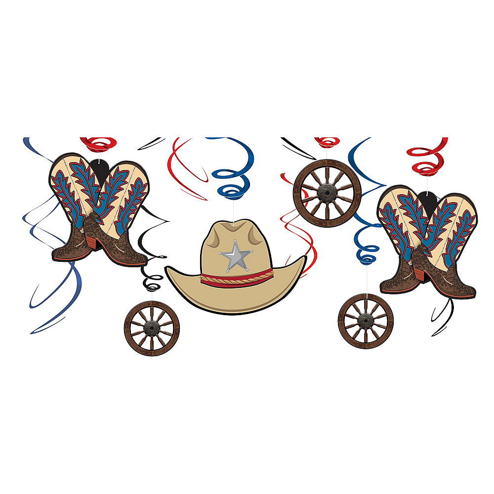 Nav Item for Yeehaw Western Swirl Decorations 12ct Image #1