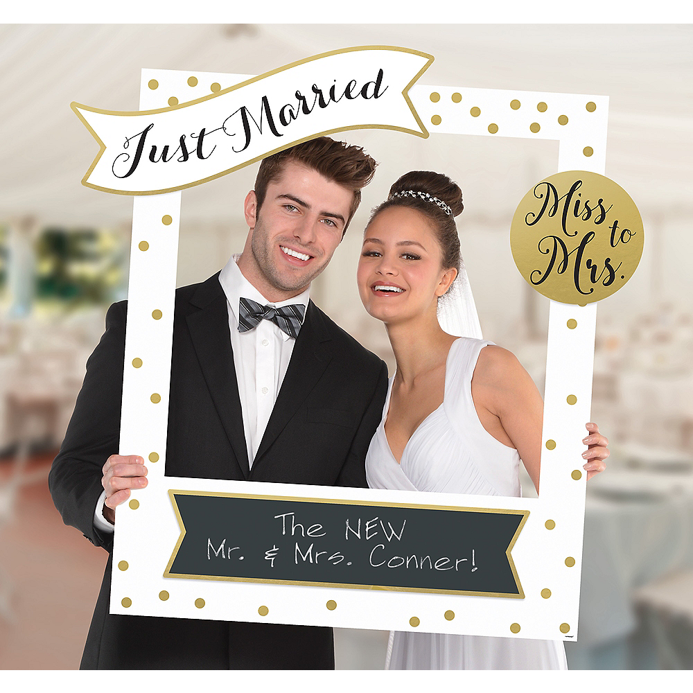 Giant Customizable Wedding Photo Frame Kit 30in X 35in Party City