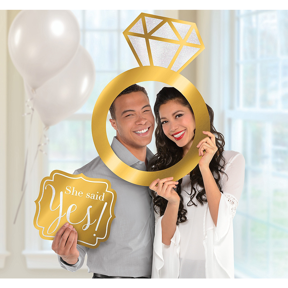 Engagement Photo Booth Frame Kit 2pc Party City
