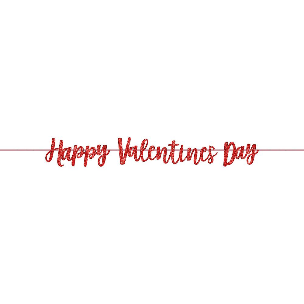 Glitter Valentine's Day Letter Banner Image #1