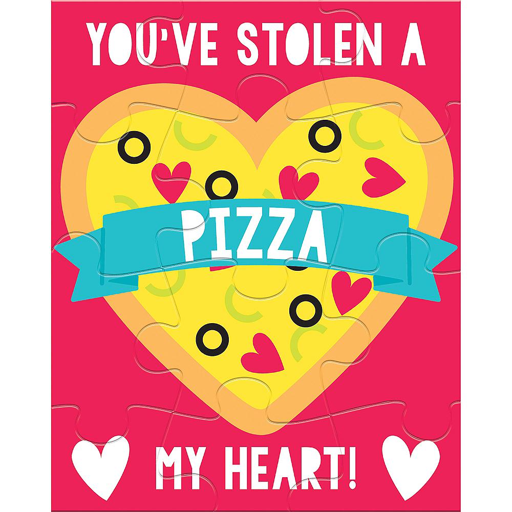 Pizza Valentine Exchange Card Puzzles 12ct Image #1