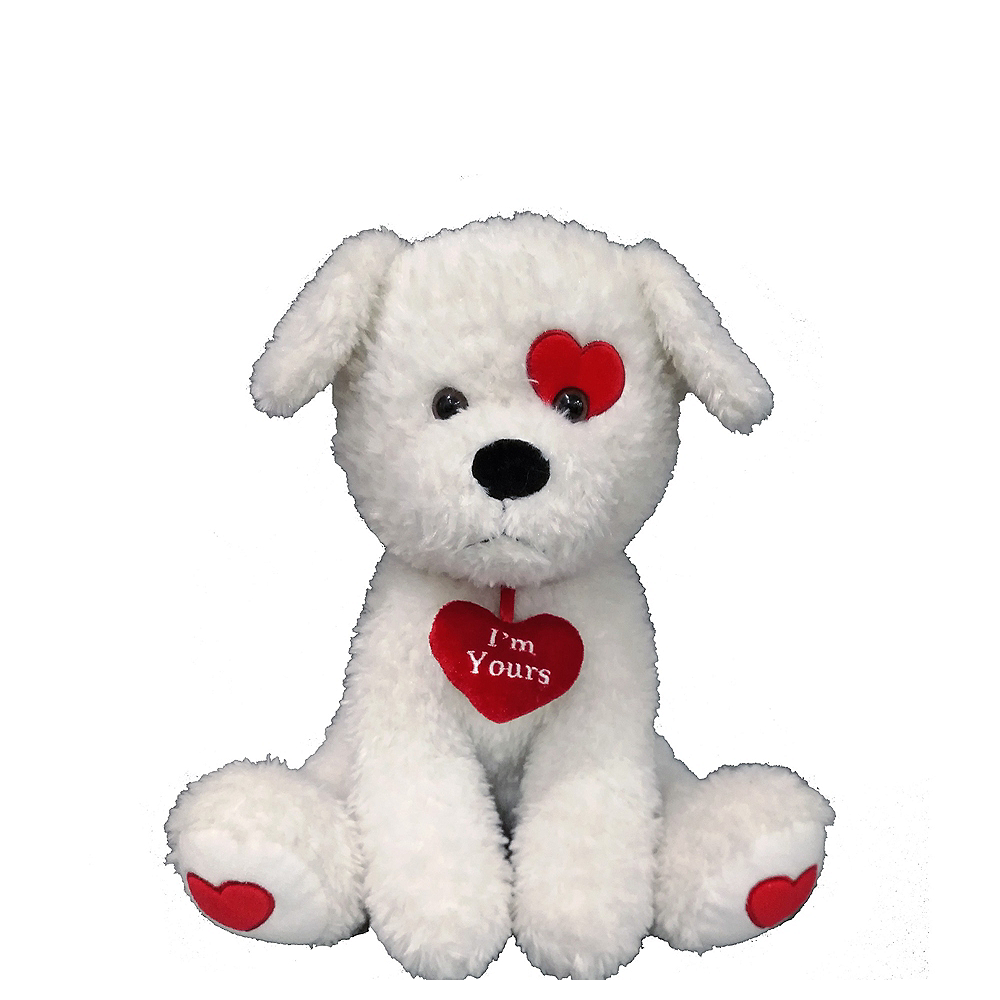White I'm Yours Dog Plush Image #1