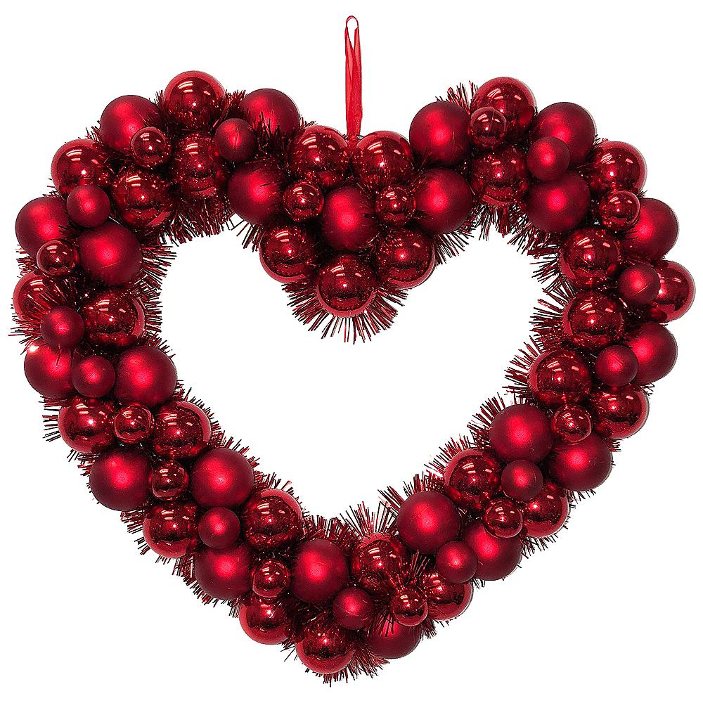 Christmas Heart Wreath.Red Heart Wreath