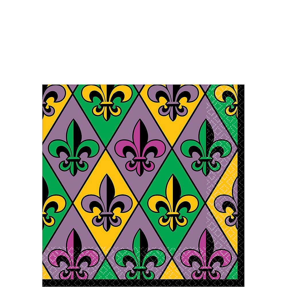 Mardi Gras Fleur-de-Lis Beverage Napkins 36ct Image #1