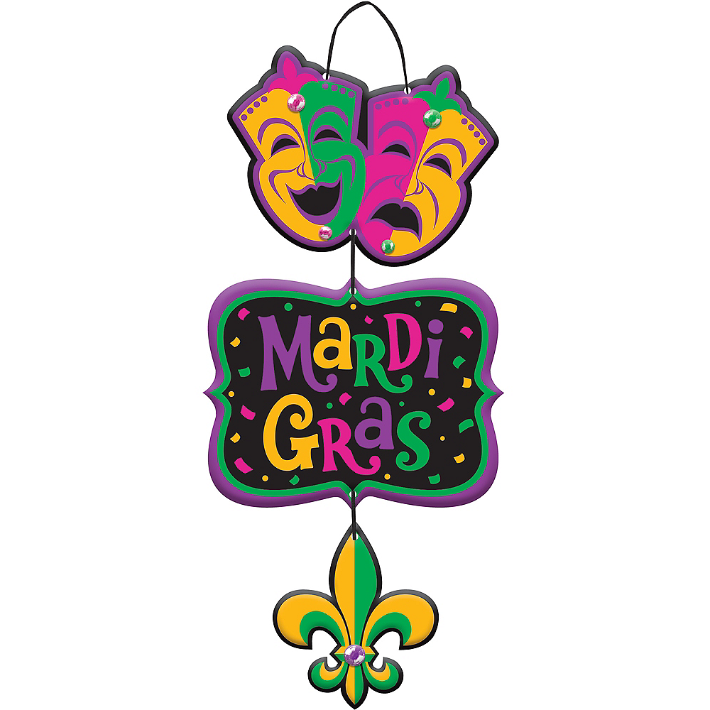 Mardi Gras Stacked Sign Image #1