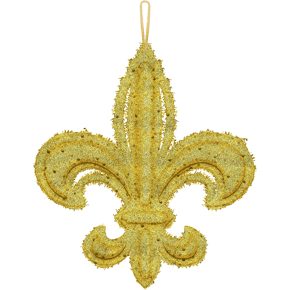 Glitter Gold Fleur De Lis Decoration 12 12in X 14in Party City