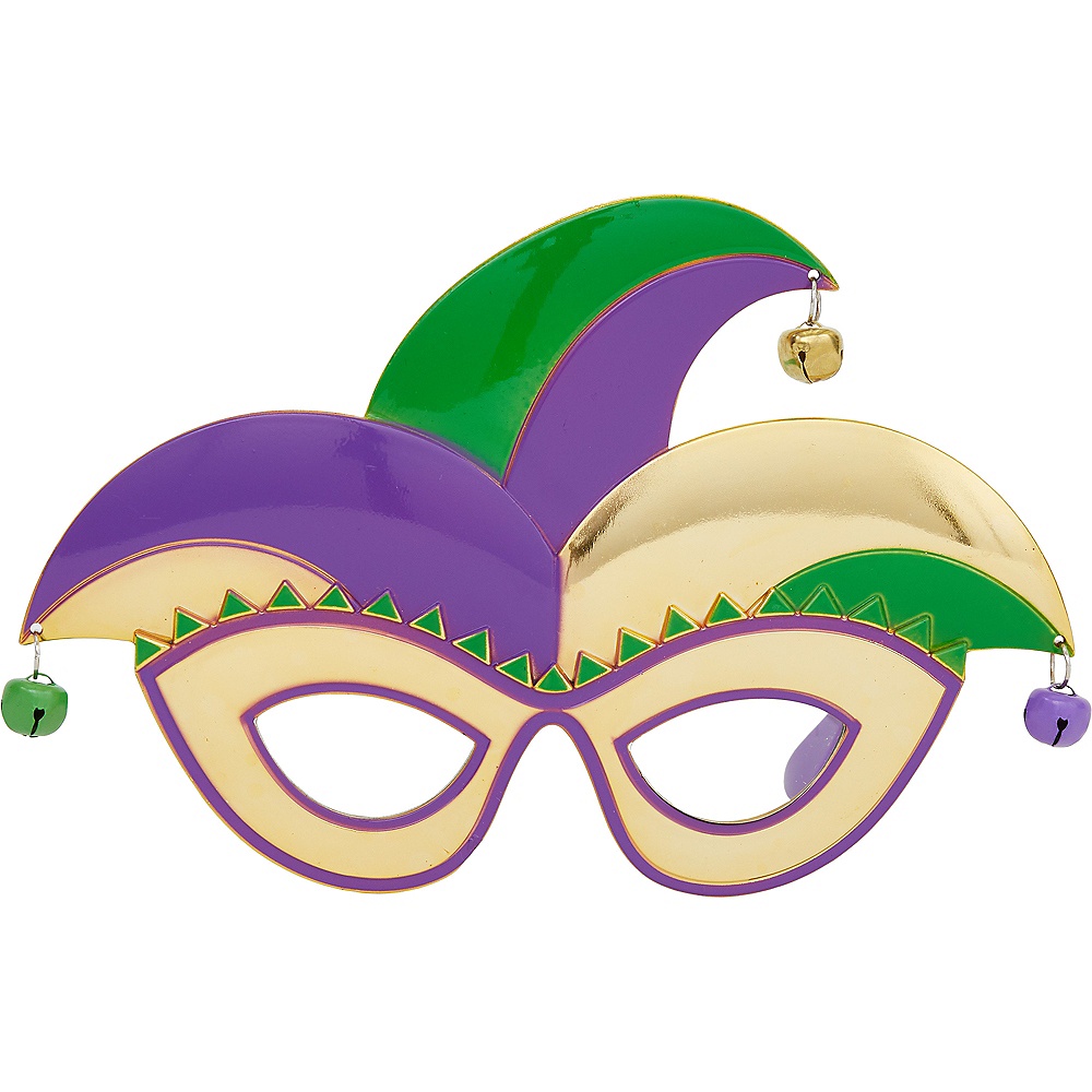 Nav Item for Jester Mardi Gras Glasses Image #1