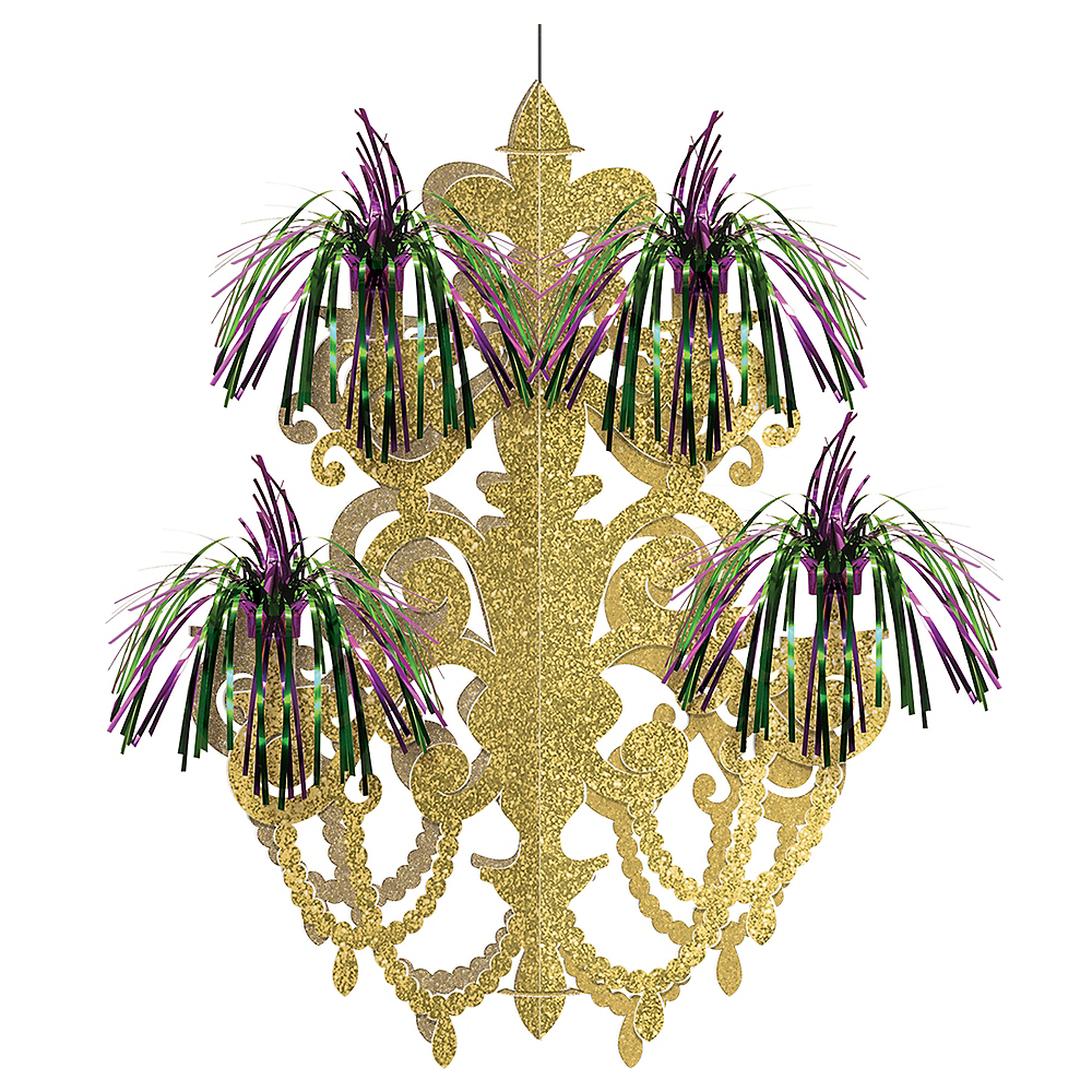 Mardi Gras Fireworks Chandelier Decoration Image #1