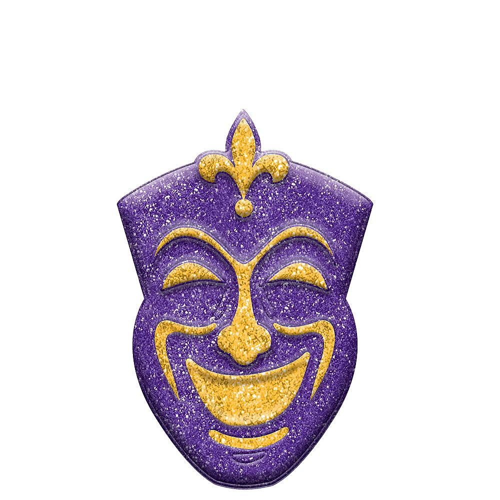 Glitter Mardi Gras Comedy Mask Sign Image #1