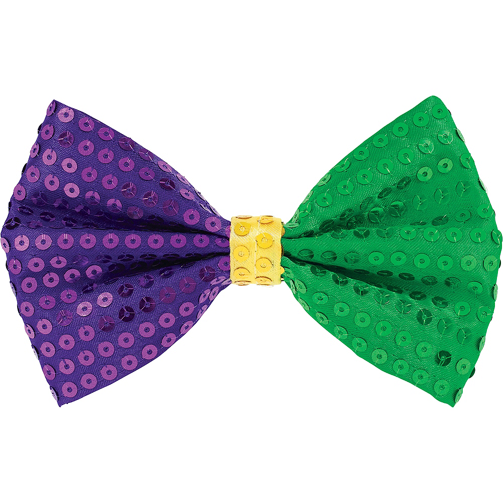 Nav Item for Sequin Mardi Gras Bow Tie Image #1