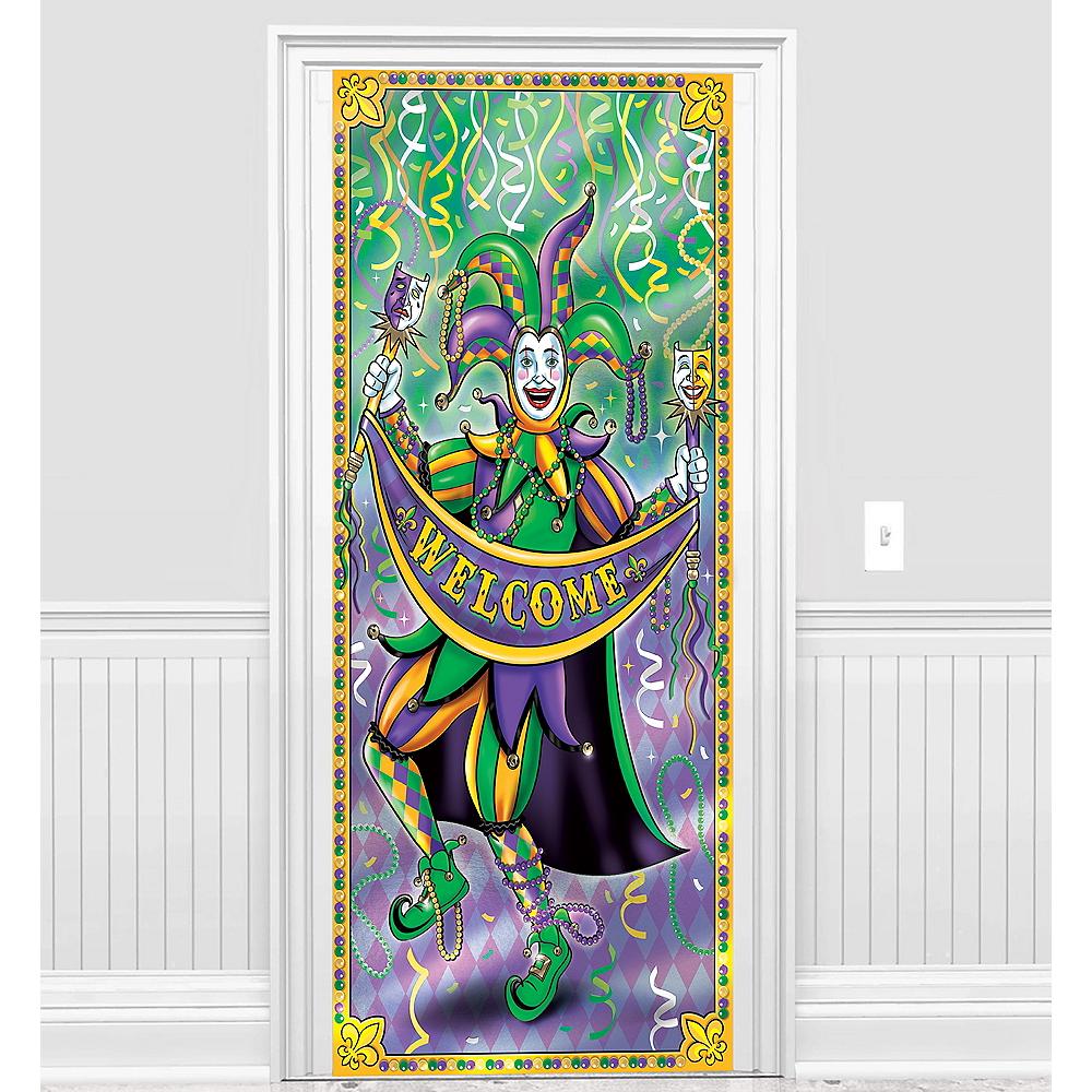Party City Game Door: Mardi Gras Door Cover 36in X 78in