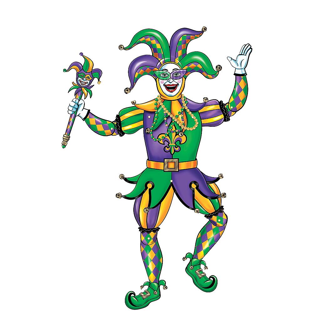 Mardi Gras Jester Cutout Image #1