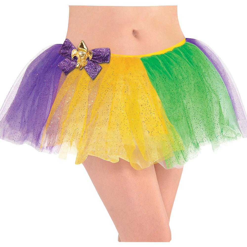 Adult Glitter Mardi Gras Tutu Image #1