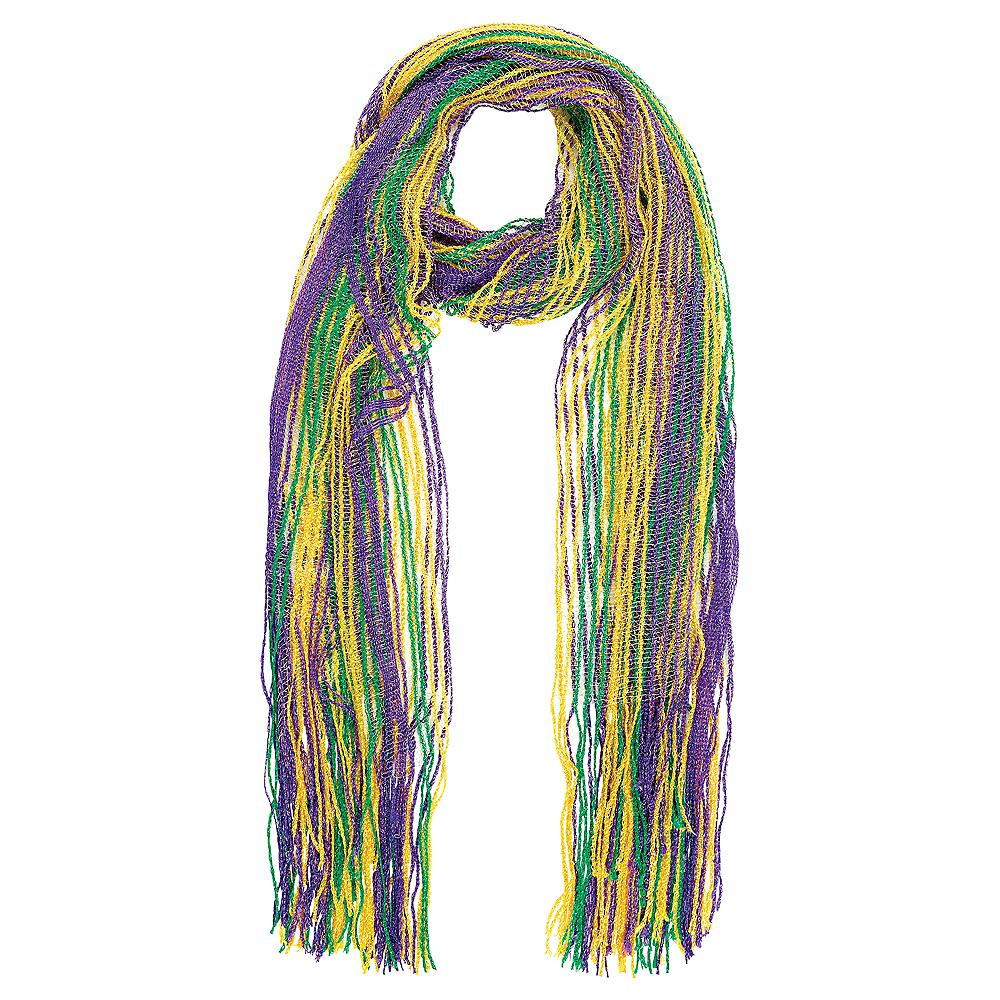 Glitter Striped Mardi Gras Scarf Image #1