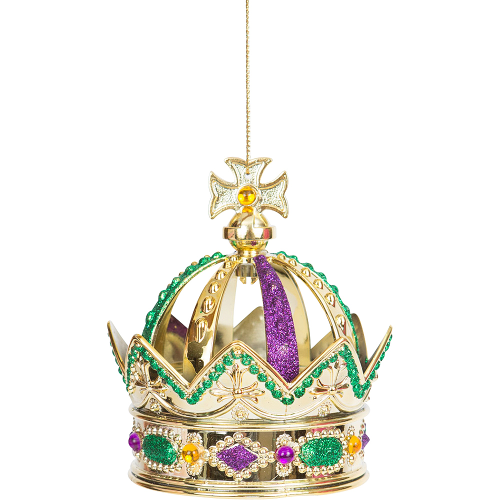 Gold Green Amp Purple Mardi Gras Crown Ornament Party City