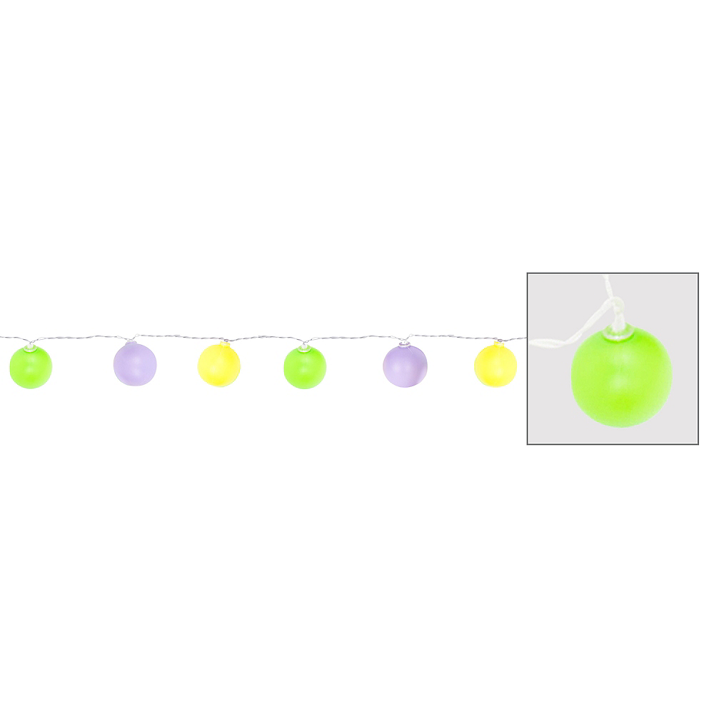 Mardi Gras Bulb String Lights Image #1