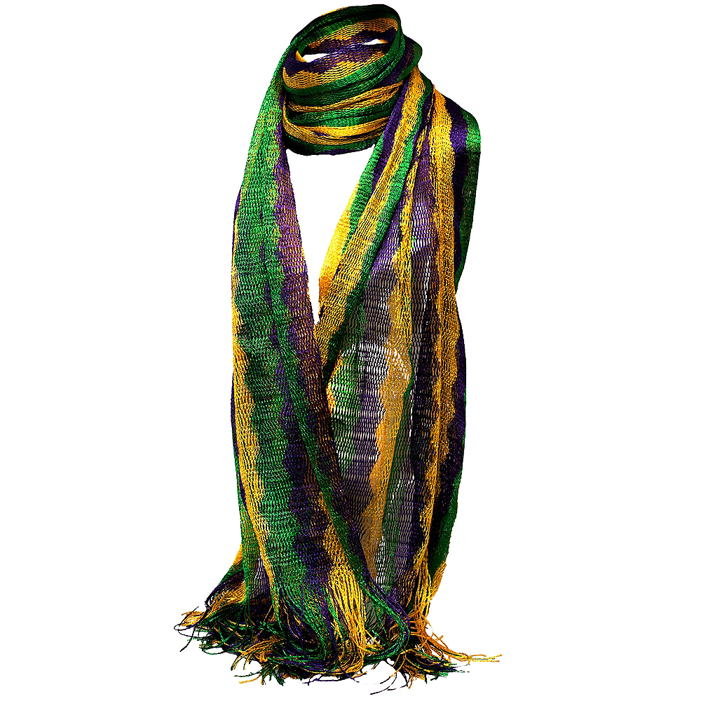 Mardi Gras Knit Scarf Image #1