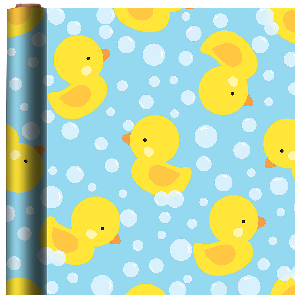 Rubber Duck Gift Wrap 5ft x 30in | Party City
