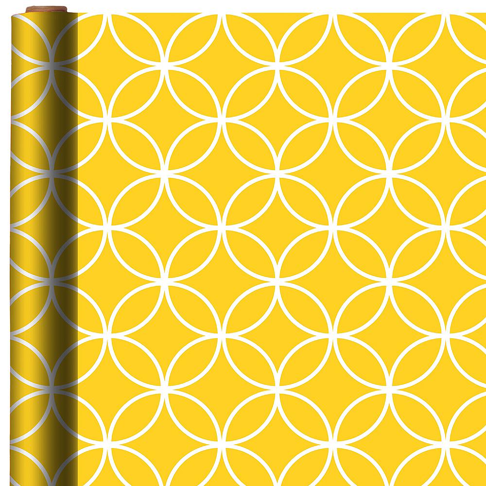Sunshine Yellow Overlapping Circles Gift Wrap Image #1