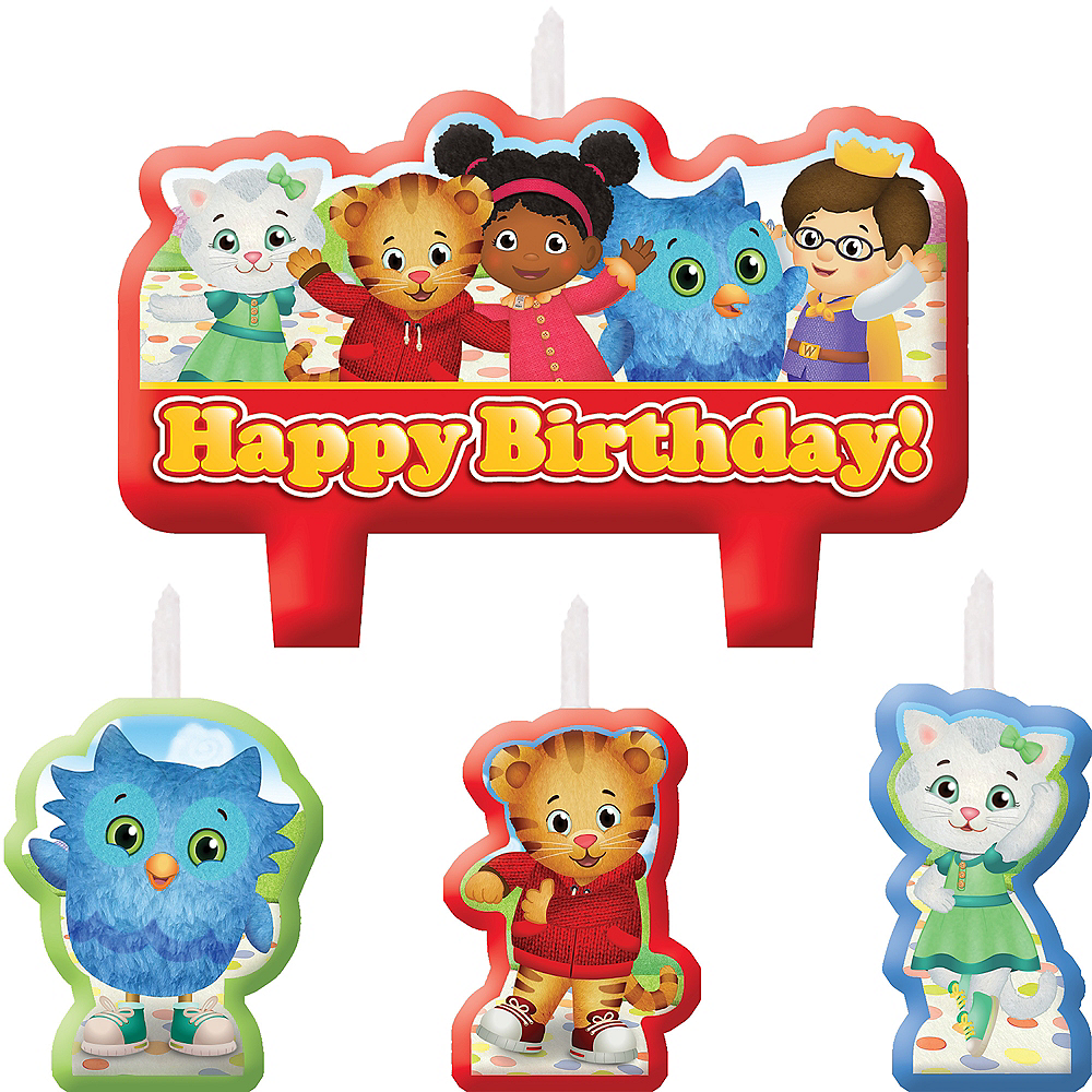 Daniel Tiger's Neighborhood Birthday Candles 4ct Image #1